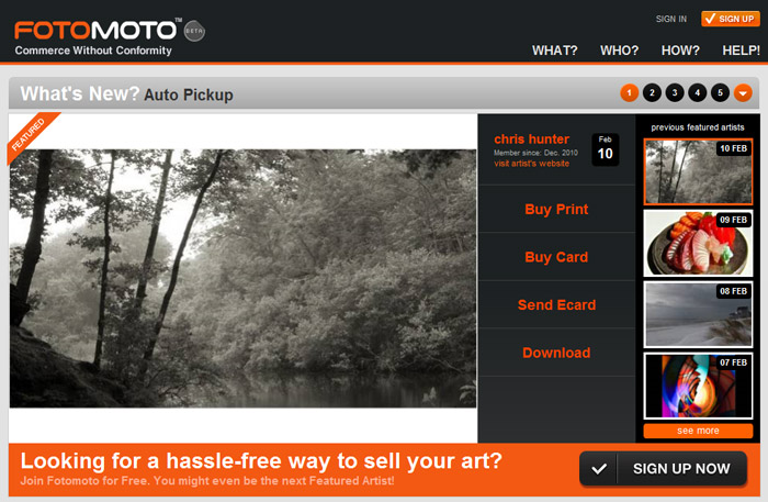 NewportRIphotos.com is featured artist website on Fotomoto.com