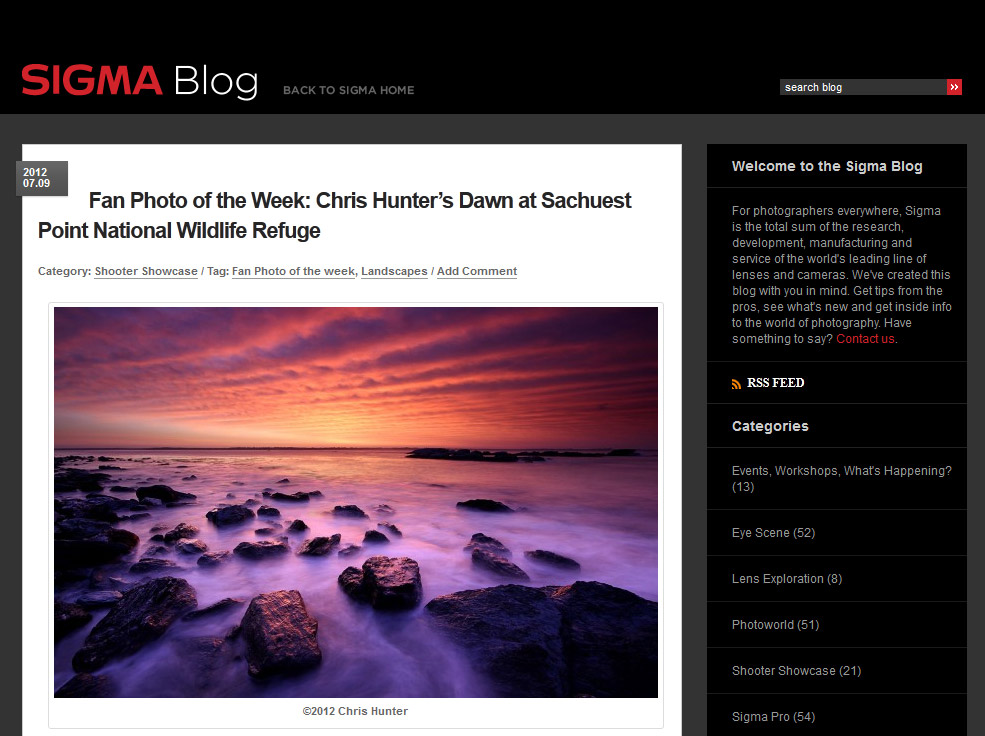 NewportRIphotos.com photograph is Featured on Sigma Website!